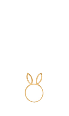 Jacquie Aiche Bunny Ring in Gold