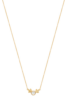 Jacquie Aiche Moonstone Cluster Leave Necklace in Gold