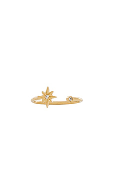 Jacquie Aiche Star & Bezel Ring in Gold
