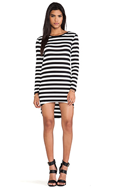 JAGGAR Whirlwind Dress in Black & White Stripe