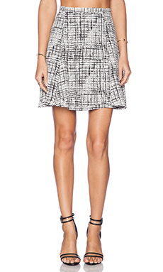 JAGGAR Herron Skirt in White Check