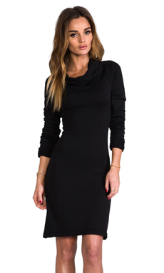 James Perse Funnel Neck Dress in Black
