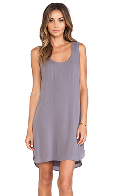 James Perse A-Line Chiffon Tank Dress in Quarry