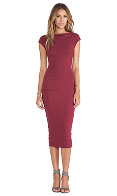 James Perse Sleeveless Tucked Dress in Fortune