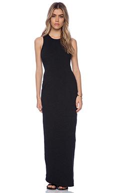 James Perse Sleeveless Pocket Maxi Dress in Black