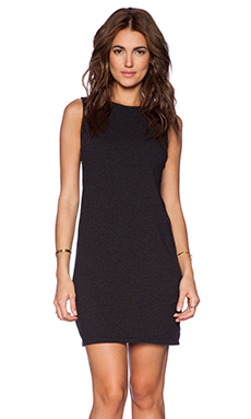James Perse Jersey Shift Dress in Black