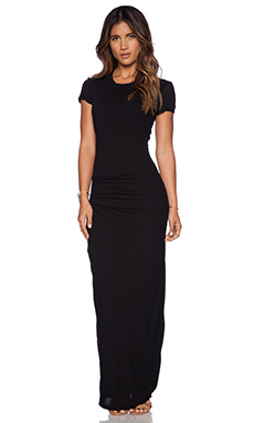 James Perse Short Sleeve Tee Maxi in Black