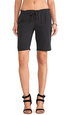 James Perse Paper Bag Gauze Short in Carbon
