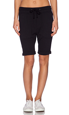 James Perse Slouch Sweat Short in Black