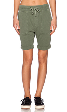 James Perse Slouch Sweat Short in Brigade