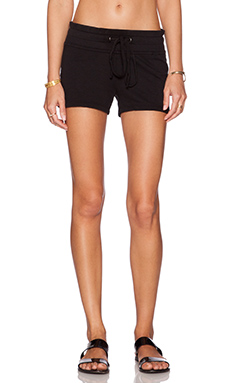 James Perse Fleece Short in Black