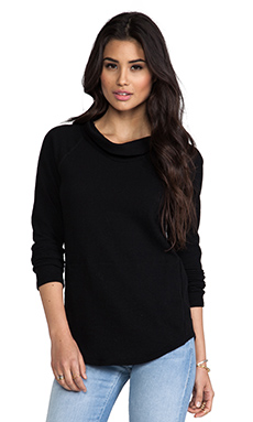 James Perse Jersey Funnel Neck in Black