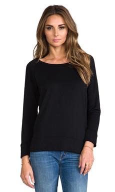 James Perse Vintage Cotton Pullover in Black