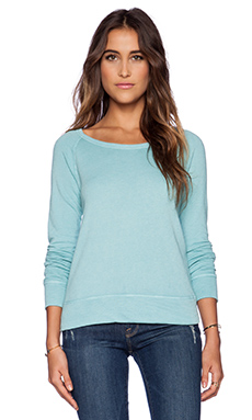 James Perse Classic Long Sleeve Raglan Sweatshirt in Seaport