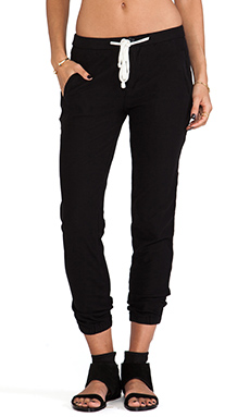 James Perse Relaxed Twill Pant in Black