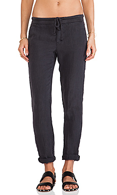 James Perse Linen Chino Pant in Carbon
