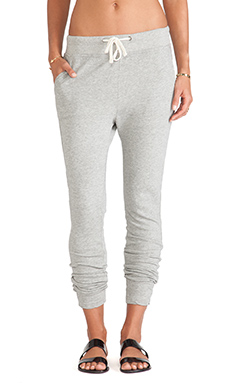 James Perse Slim Sweatpant in Heather Grey