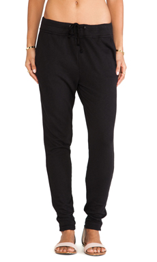 James Perse Slim Sweatpant in Black
