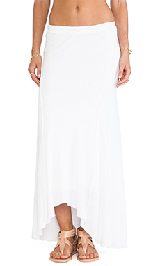 James Perse Inside Out Ellipse Skirt in White