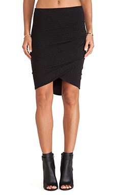 James Perse Tulip Hem Skirt in Black