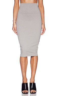 James Perse High Waisted Jersey Skirt in Shadow