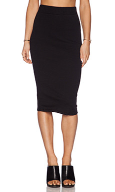 James Perse Classic Fleece Skirt in Black