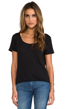 James Perse Oversize Collage Tee in Black