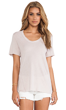 James Perse Inside Out Linen Jersey Tee in Halite