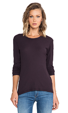 James Perse L/S Crew in Fig