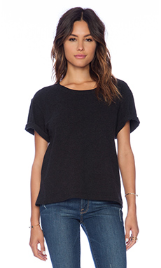 James Perse Oversize Heavy Tee in Black