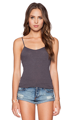 James Perse Slub Jersey Cami in Carbon