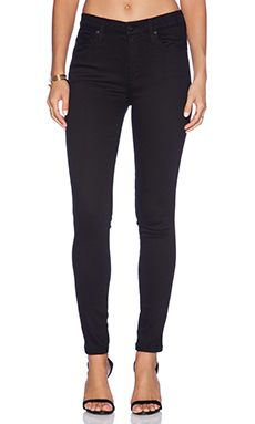 James Jeans High Class Skinny in Flat Black