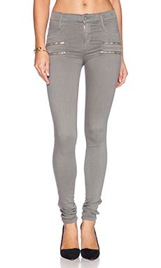James Jeans James Twiggy Crux Double Zip Legging in Stonehenge