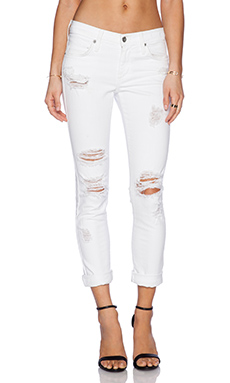 James Jeans Neo Beau Slouchy Fit Boyfriend in Destroyed White