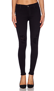 James Jeans James Twiggy Dancer Seamless Legging in Black Flex Distressed