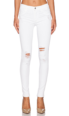 James Jeans James Twiggy Ultra Flex Legging in White Clean Distressed