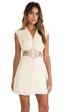 JARLO Reeve Mini Dress in Cream