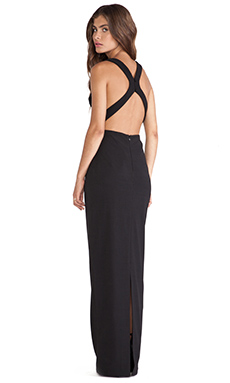 JARLO Evie Maxi Dress in Black