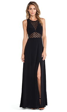 JARLO Noah Maxi Dress in Black