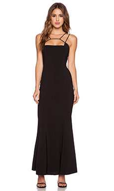 JARLO Jade Maxi Dress in Black