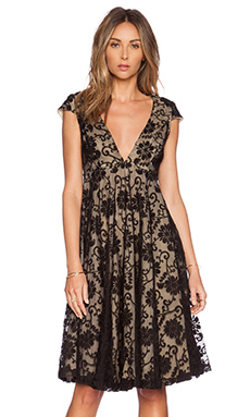 JARLO Hartley Dress in Black Lace