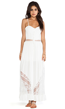 JARLO Bell Dress in White