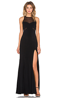 Jay Godfrey Rutherford Lace Inset Gown in Black
