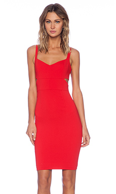 Jay Godfrey Lauda Cut Out Sheath Dress in Red