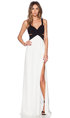 Jay Godfrey Evander Maxi Dress in Black & White