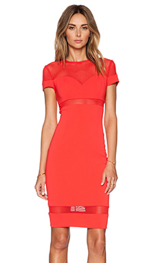 Jay Godfrey Graham Dress in Scarlet