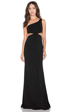 Jay Godfrey Foreman Maxi Dress in Black