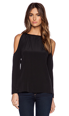 Jay Godfrey Bergen Cowl Back Top in Black