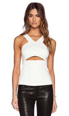 Jay Godfrey Schumacher Cut Out Top in Light Ivory
