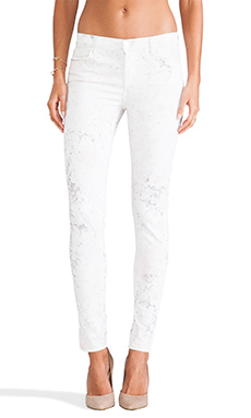 J Brand Midrise Skinny Pant in Ghost Rose